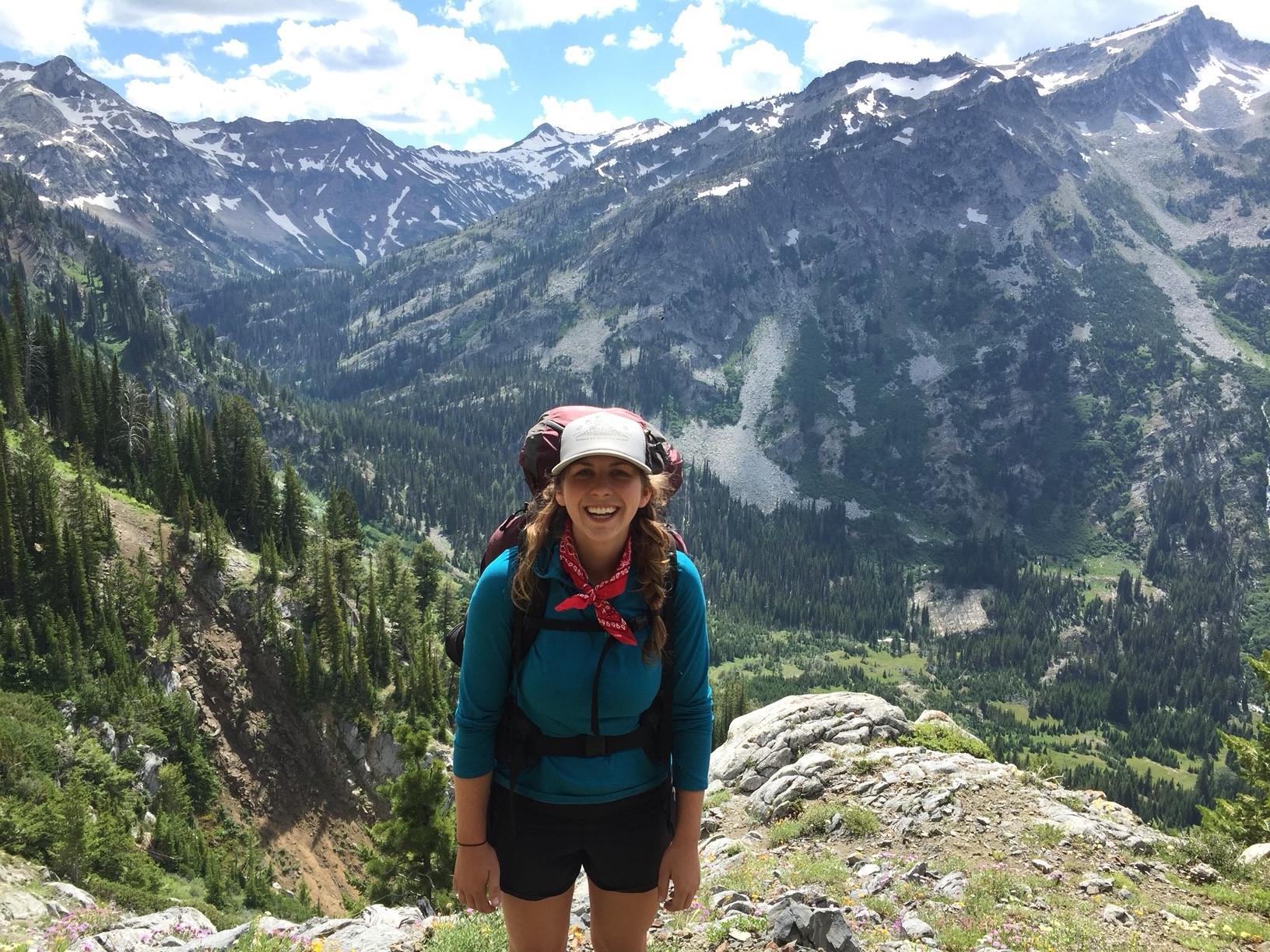 Hilary Sager hiking Oregon's mountains